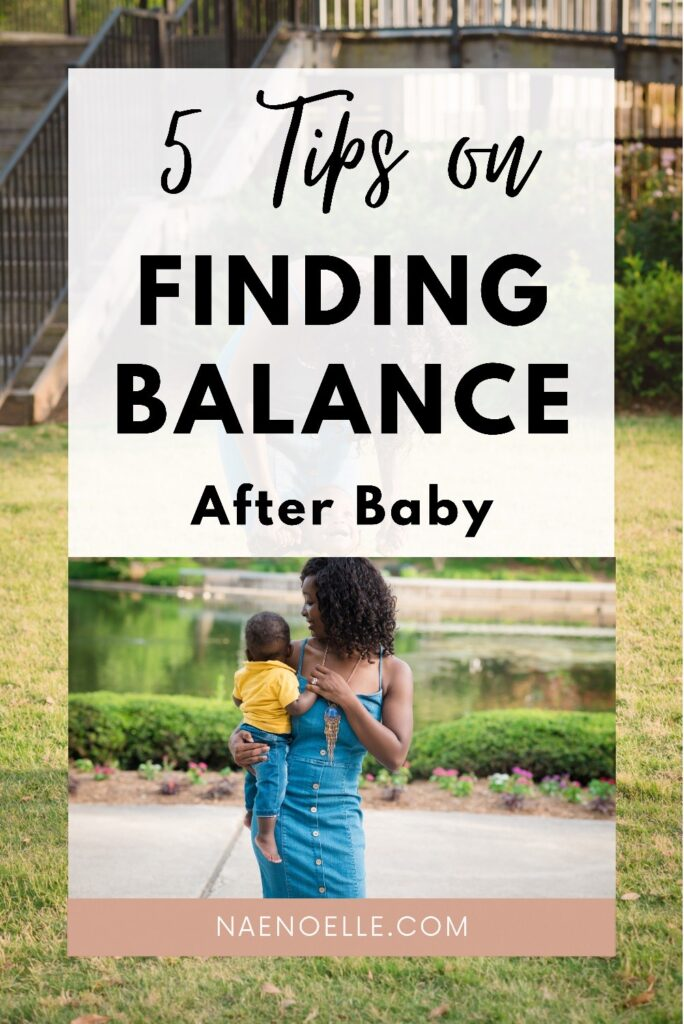 Finding balance after baby